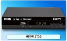 HD Digtial FTA DVB-S2 Satellite receiver / set top box open BISS channels model HDSR 670G