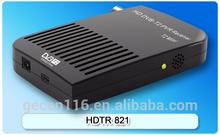 HD MPEG4 Digital FTA mini DVB-T2 Set top box / Satellite Receiver with plastic housing Mstar model HDTR 821