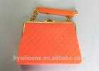 hand strap china made New Designs fashion silicone bag silicone handbag