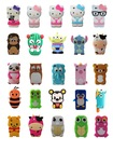 Cartoon Animals Silicone Rubber Gel Tpu Case Cover Skin For for iPhone 4 4s 5 5s 5c