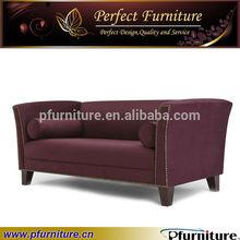 white simply living room purple sofa Luxury Hotel Furniture sofa PFS5833