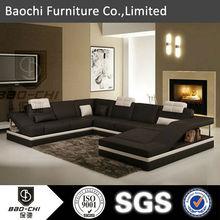purple sectional sofa furniture leather sofa modern C1158
