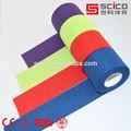 Algodão colorido esportes fita rígida para cintas fita atlético formadores de fita 3.8cm*13.7m-( ce/iso/tuv/fda aprovação)