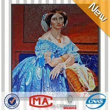 decoration design glass mosaic wall murals balcony wall tiles free sex women photo hot beautiful girl portrait
