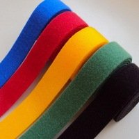 Heavy duty colored double sided hook and loop roll