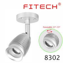 3W COB LED surface mounted ceiling light adjustable scope mounts