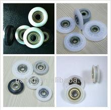 High temperature nylon wheels for wardrobe with 608 ball bearing