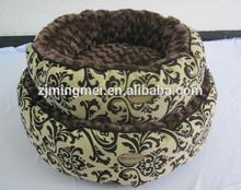 2014 Hot sale Cute High quality Polar Fleece sofa bed luxury pet dog beds / wooden pet bed