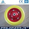 polyurethane material flat free wheel 3.25-8