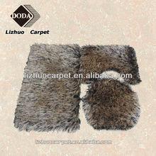 2015 hot sale polyester long pile shaggy bath mat
