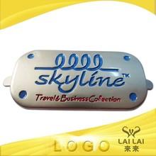 Custom engraved logo metal nameplate namebadge for bags