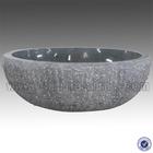 Dark Grey Color Free Standing Round Shape Granite Bathtub