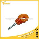 Orange plastic UV electric fence post ring insulator