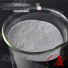 Microsilica for white portland cement use