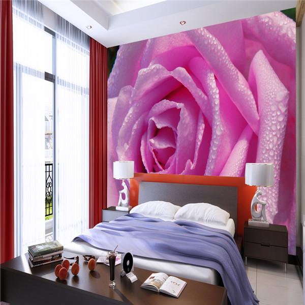 sch ne rosa rose blume design tapeten wandbilder f r. Black Bedroom Furniture Sets. Home Design Ideas