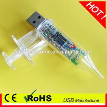 syringe pen drive 1gb 2gb 4gb 8gb 16gb 32gb medical usb flash drive