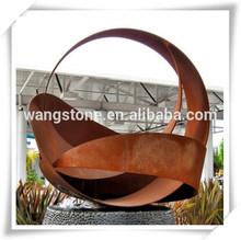 Europe Welding Technique Corten Steel Round Feature Sculpture
