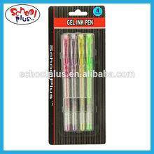 Multi-color 4pcs glitter rainbow gel ink pen use in school&office