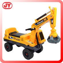 Kids ride on excavators with music children toy pedal tractors baby walker car EN71