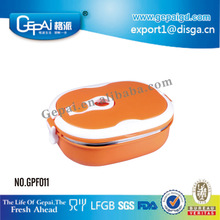 Colorful stainless steel rectangular storage food containers with lids