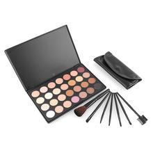 7pcs Make Up Kit Makeup Brushes + 28 Eye Shadow EyeShadow Palette Cosmetic Tool Free Sample