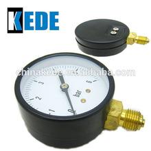 economic black steel case bourdon tube pressure gauge