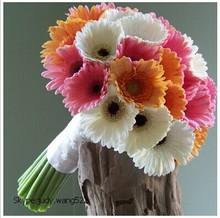 2014 SJ AF021 Wholesale high quality artificial gerbera daisy Stem Artificial silk flower artificial daisy flower bouquet