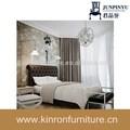 جلدية سوداء غرفة الفندق غرفة نوم مجموعة الأثاث أثاث غرف النوم أحدث التصاميم