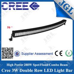 New 50 inch 288w 10-30v curved led lightbar led light bar light for nissan caravan
