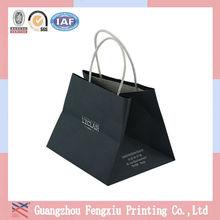 Guangzhou Factory Price Custom Nice Design Black Kraft Paper Bag