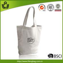 Promotional product wholesale organic drawstring bag cotton