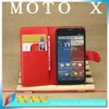 2014 most popular Leather wallet leather case cover for motorola moto x