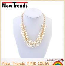 Fashion imitate pearl gold chain necklace jewelry designs bridal