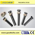 Pernos estructurales iso 13918 ansi/awsd1 conector perno/de corte estudios/stud de soldadura sujetador( el certificado del ce)