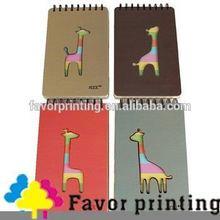 110-Sheet Deer Pattern Paper Suture Line Notebook/Notes Pad notebook