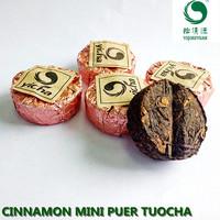 compressed cinnamon puerh mini tuocha tea, puer tea