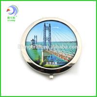 Beautiful Scenery Foldable Metal Mirror Round