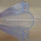 Supermarket shelf plastic Clear PVC Ticket Strip, Label Holder
