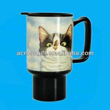 ceramic travel cup wtih cat design