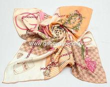 100% Pure printing silk scarf