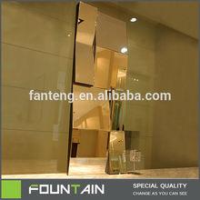 Golden Rectangle Mirror Modern Glass Dresser Mirrors For Sale