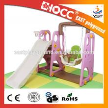 China kid indoor plastic swing and slide set