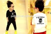 New Fashion Boy T Shirt Human Skeleton Pattern Children T Shirts Long Sleeve Cotton Boy Clothes BT40318-9