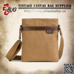Fashion custom Khaki canvas waist bag for Ipad