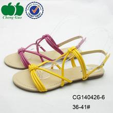 stylish hot sell women yellow dress shoes