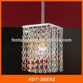 Couleur cristal pendentif carré d'éclairage pour salle à manger adt-35692