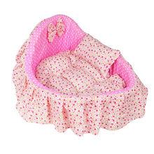 Reasonable Price Sweet Pink Dot Pet Bed