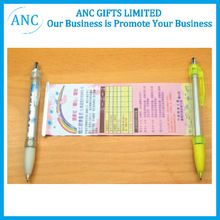 logo prined promotional retractable banner pens