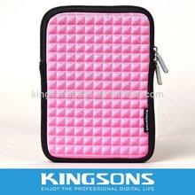 Fashionable Fancy Pink Laptop Sleeve for Ladies, 7.9 Inch Neoprene Fabric Waterproof Tablet Case