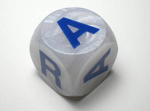 Letter engraving dice